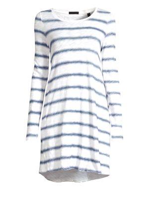 Striped Slub Shirtdress