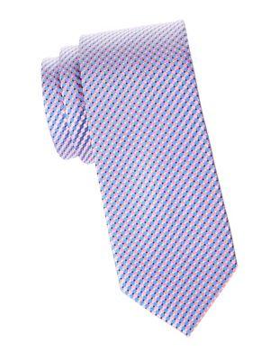 Micro Circle Silk Tie