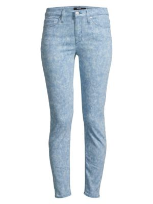 Nico Mid-Rise Spray Ankle Skinny Jeans