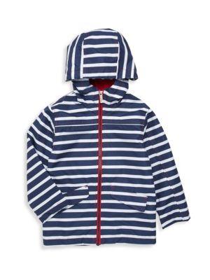 Little Boy's & Boy's Striped Raincoat