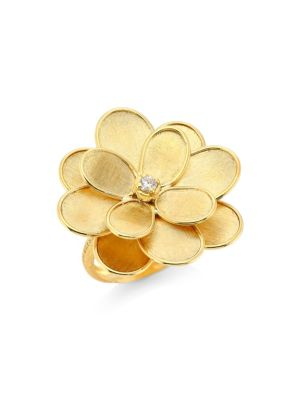 Petali 18K Yellow Gold & Diamond Medium Flower Ring