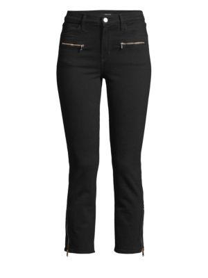 Ruby Moto Zip Detail Jeans in Vanished