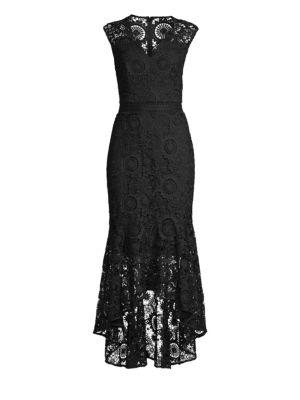 Regina Floral Crochet High-Low Dress