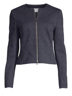 HUGO BOSS | Jekalana Textured Check Power Suiting Jacket | Goxip