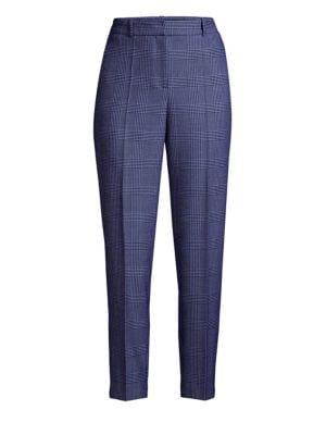 Tavela Glencheck Cropped Stretch Pants
