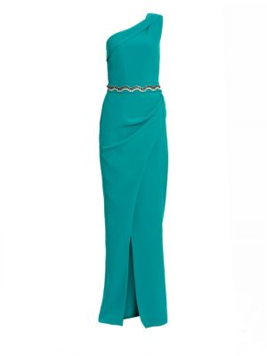 Camille Heavy Crepe One-Shoulder Gown