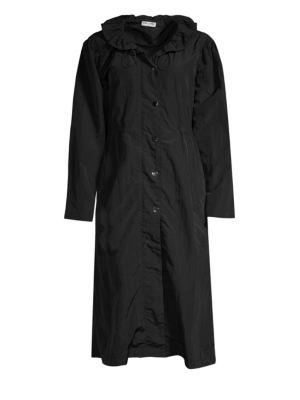 Ruffle Collar Raincoat