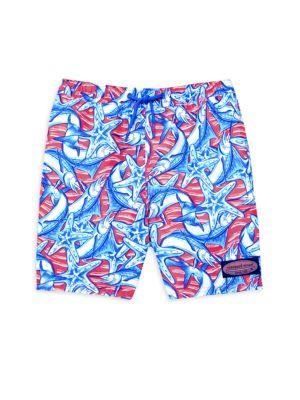 Baby, Little & Boy's Marlin Print Swim Shorts