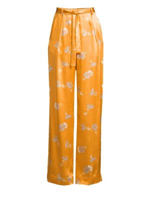 Evonne Silk Print Wide Leg Trousers