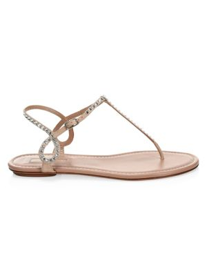 Almost Bare Embellished Suede Sandals