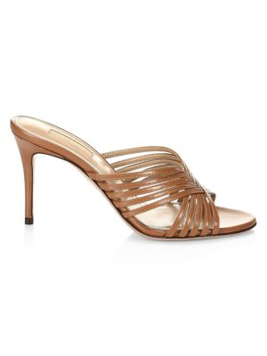 Hydra Woven Patent Leather Mules