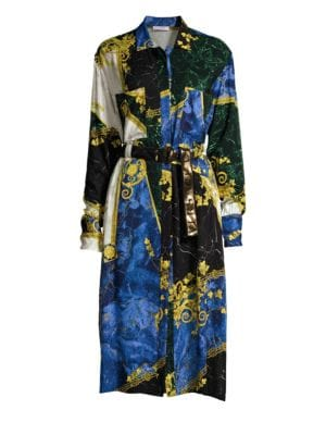Barocco Patchwork Marble Dress