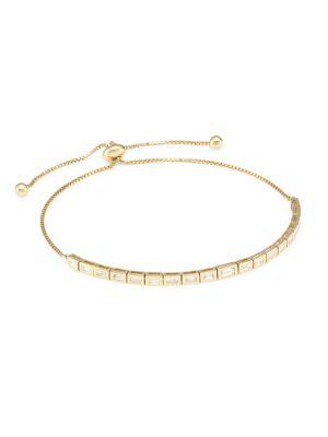 14K Yellow Gold & Diamond Slider Bracelet