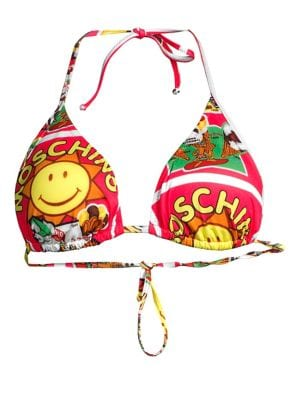 Flash Swim Sunshine Print String Bikini Top