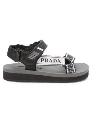 Nastro Jacquard Buckle Platform Sandals