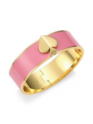 Enamel Spade Bangle Bracelet