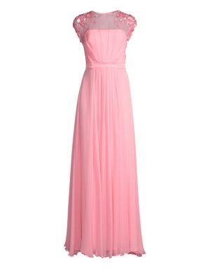 Crepe Chiffon Silk Sheath Gown