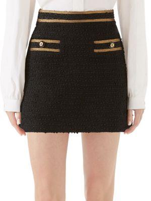 Bouclé Knit Mini Skirt