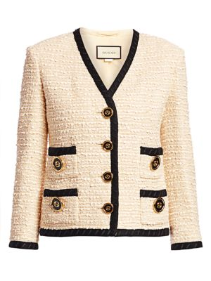 Bouclé Tweed Boxy Jacket