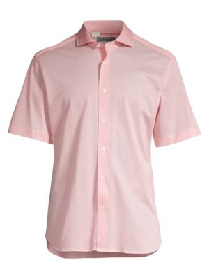 Pique Cotton Short Sleeve Sport Shirt