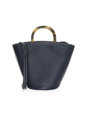 Agnes Leather Fan Tote