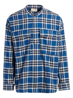 Sixth Flannel Henley Long-Sleeve Pullover