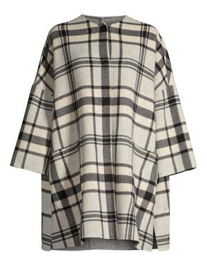 Medium Gigante Plaid Virgin Wool-Blend Coat