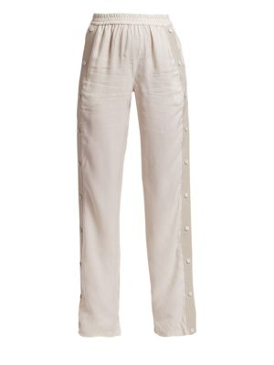 ARTICA ARBOX Wide Leg Track Pants in Ash Grey