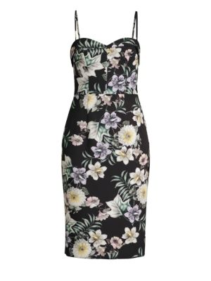 BLACK HALO | Clover Midi Dress | Goxip
