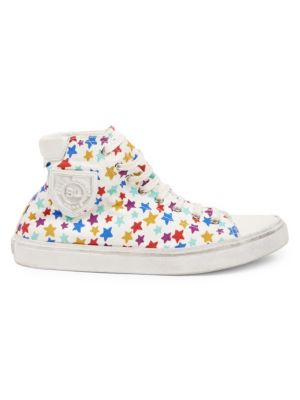 Bedford Canvas Star-Print High-Top Sneakers