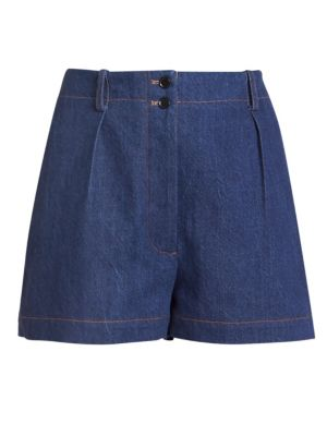 Mid-Rise One Pocket Denim Shorts