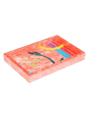 Abstract Floral Vanity Tray