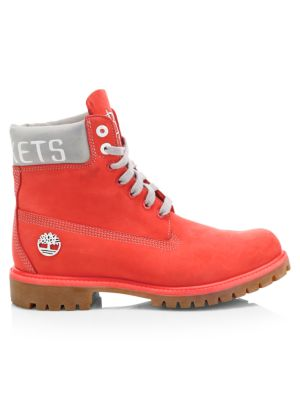 NBA Collection Houston Rockets Lace-Up Leather Boots