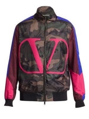 Colorblock Camo Jacket