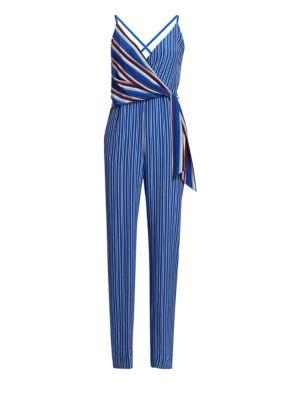 Felix Striped Silk Jumpsuit