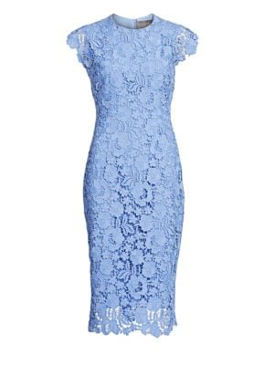 Short Sleeve Lace Sheath Dress