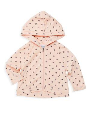 Baby Girl's Polka Dot Zip Hoodie