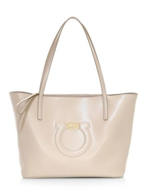 SALVATORE FERRAGAMO | City Leather Tote | Goxip