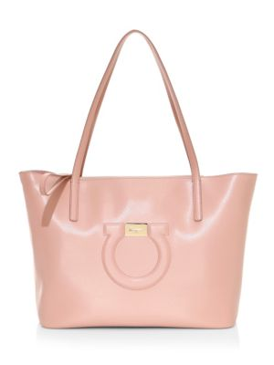 SALVATORE FERRAGAMO | City Gancio Leather Tote | Goxip