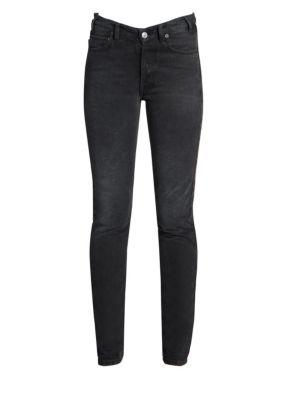 V-Waist Skinny Jeans