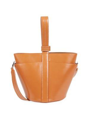 Medium Stella Leather Bucket Bag