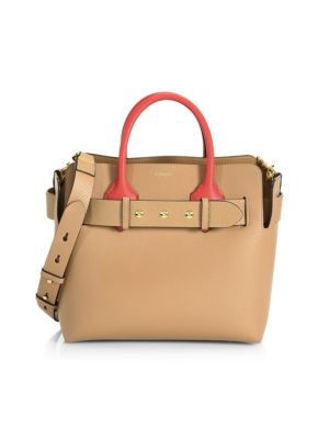 BURBERRY | Small Belt Detail Leather Satchel | Goxip