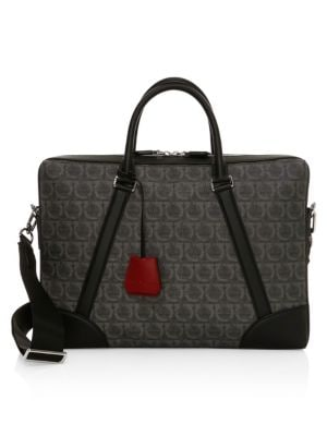 Travel Gancini Print Single-Gusset Satchel