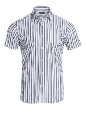 MODERN Vertical Stripe Short-Sleeve Shirt