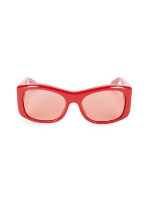 59MM Rectangular Acetate Sunglasses