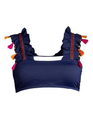 Dreambay Ruffle-Strap Swim Top