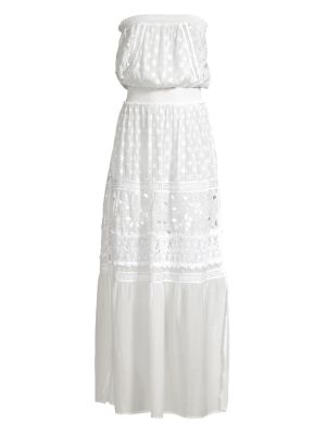 Isadora Strapless Embroidered Maxi Dress