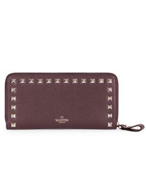 Valentino Garavani Rockstud Leather Continental Wallet