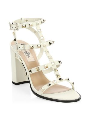 Valentino Garavani Rockstud Cage Leather Sandals