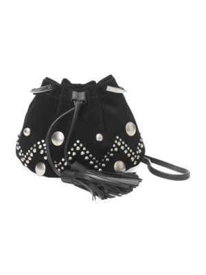 Kylio Studded Suede Bucket Bag